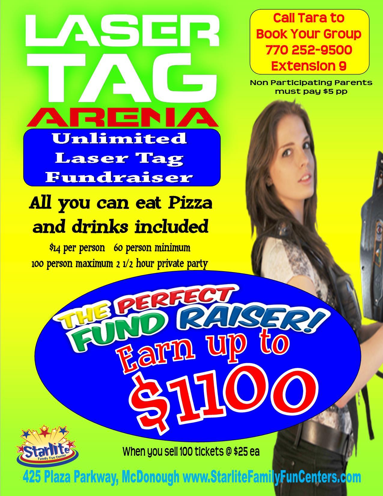 laser tag fundraiser