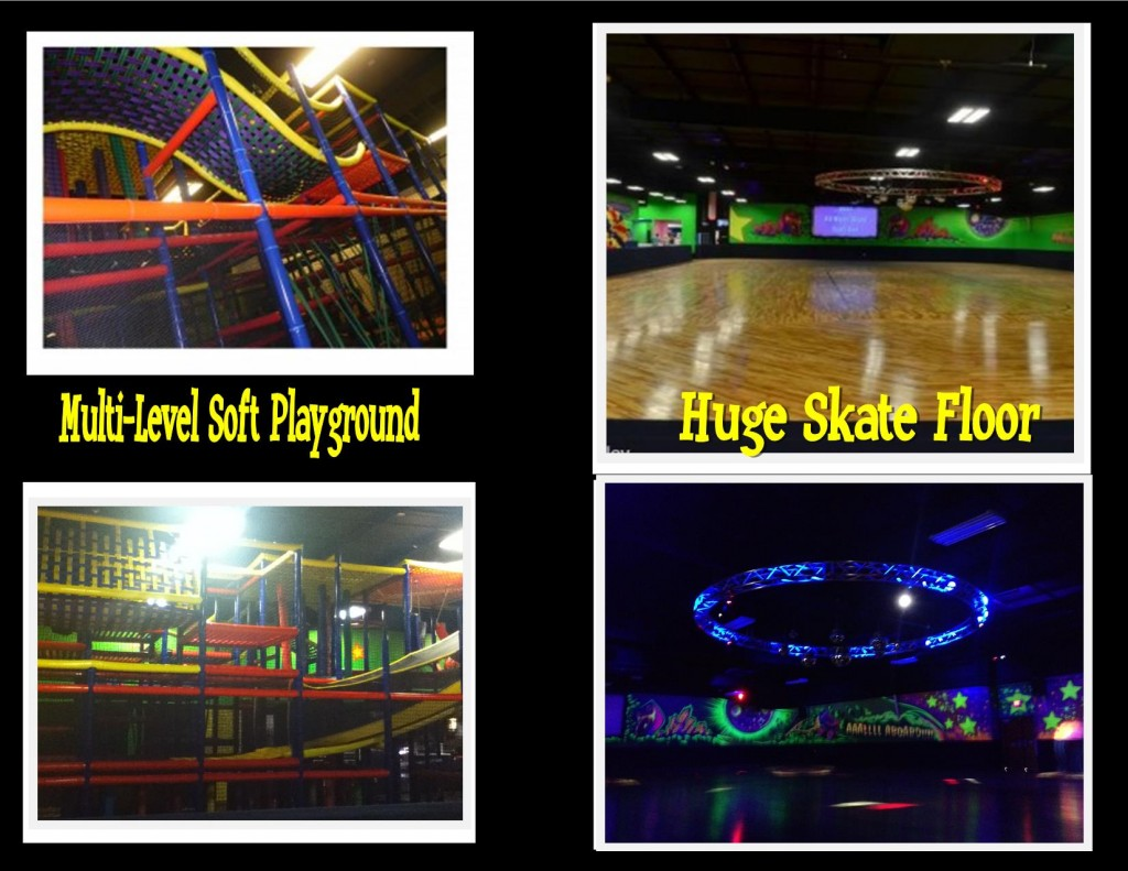 Indoor Playground and Huge skate floor