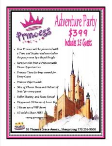Princess Birthday Party at Starlite of Sharpsburg
