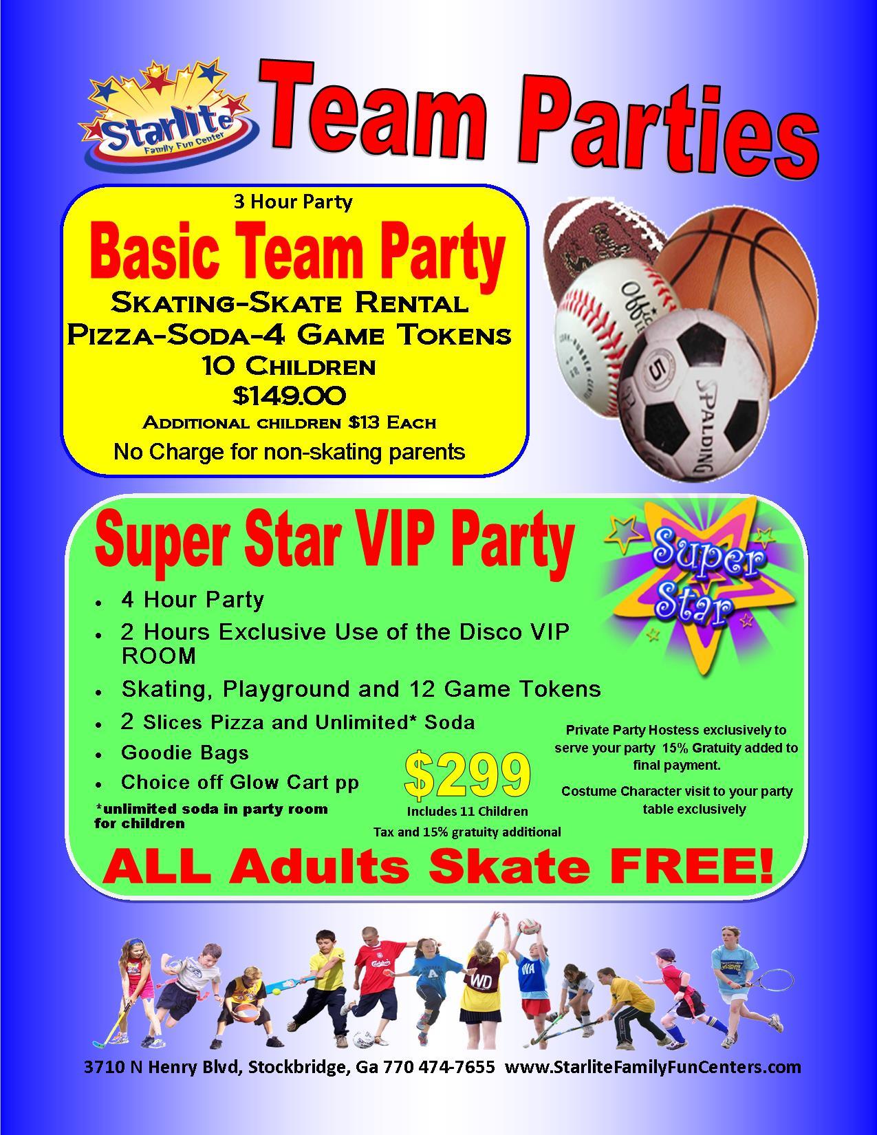 Stockbridge Team Party Flyer
