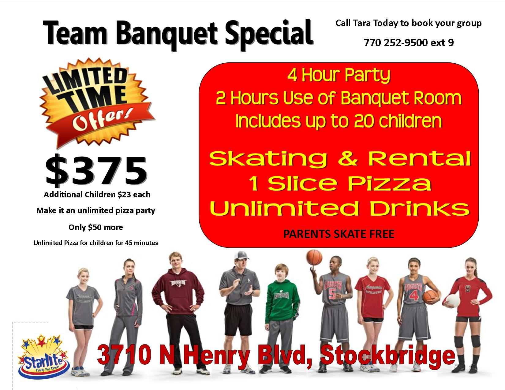 team banquet special stockbridge