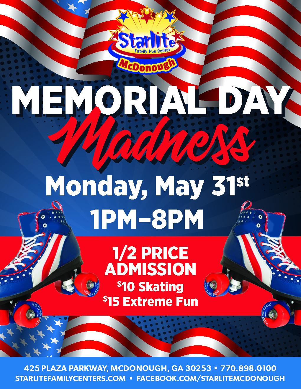 GA21-017 Memorial Day Madness Flyer-McDonough